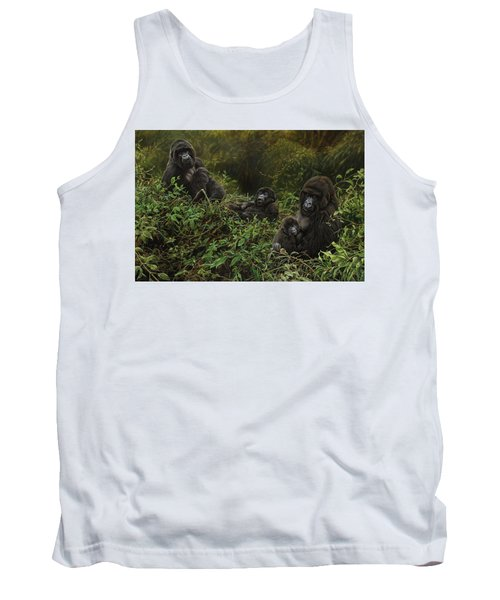 Family Of Gorillas Tank Top