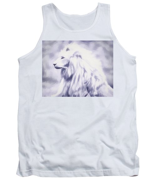 Fantasy White Lion Tank Top