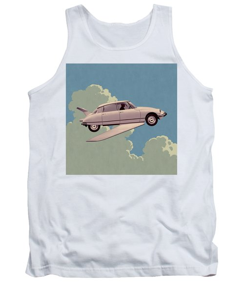 Fantomas 1965 - Right Panel Tank Top by Udo Linke