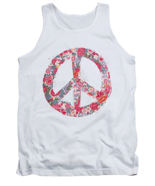Tank Top featuring the digital art Far Too Pretty Peace Symbol #1 by Nola Lee Kelsey