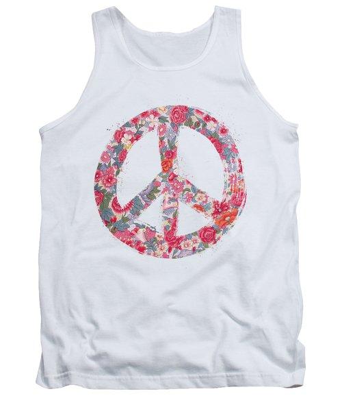 Far Too Pretty Peace Symbol #1 Tank Top by Nola Lee Kelsey