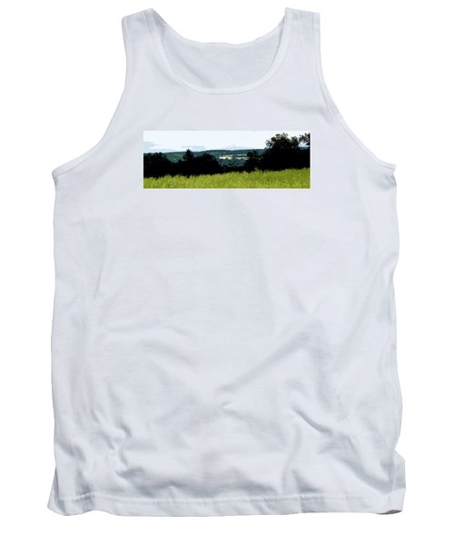 Tank Top featuring the photograph Farm In The Valley by Spyder Webb
