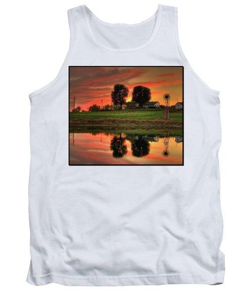 Farm Sunset Tank Top by Farol Tomson