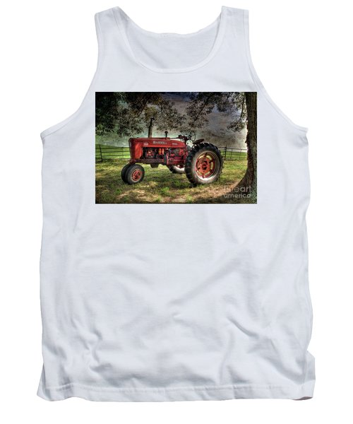 Farmall In The Field Tank Top by Michael Eingle