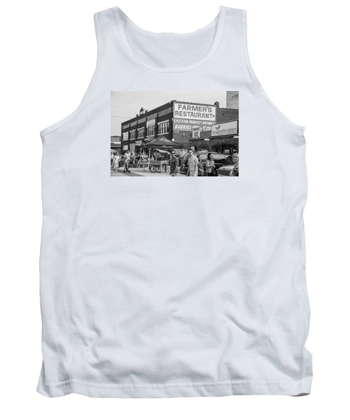 Farmers Restaurant In Detroit Black And White  Tank Top