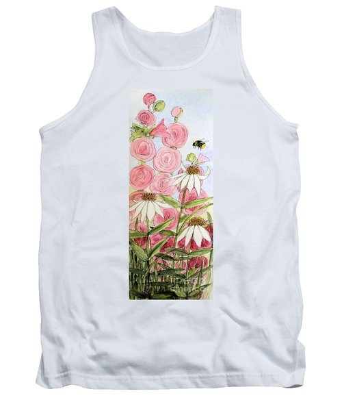 Tank Top featuring the painting Farmhouse Garden by Laurie Rohner