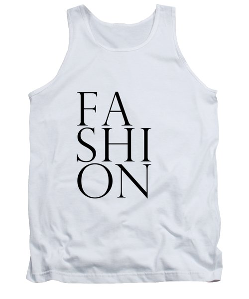 Fashion - Typography Minimalist Print - Black And White 01 Tank Top