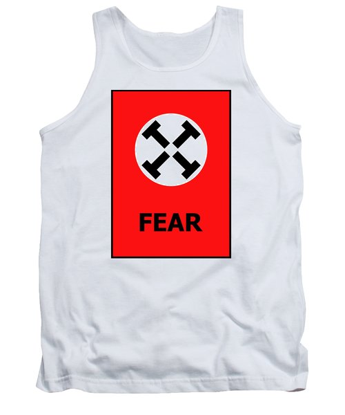 Tank Top featuring the digital art Fear by Richard Reeve