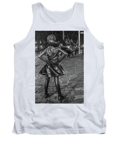 Fearless Girl And Charging Bull Nyc Tank Top