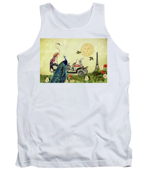 Feathered Friends In Paris, France Tank Top
