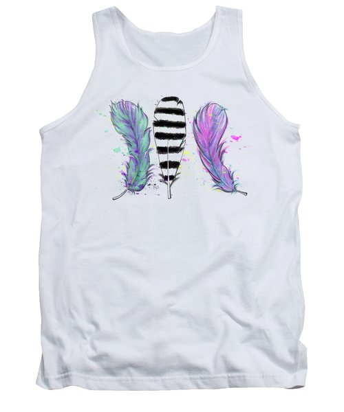 Tank Top featuring the digital art Feathers by Lizzy Love