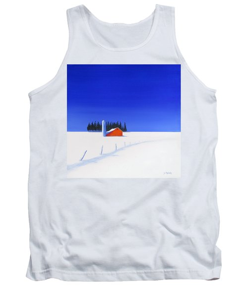 Tank Top featuring the painting February Fields by Jo Appleby