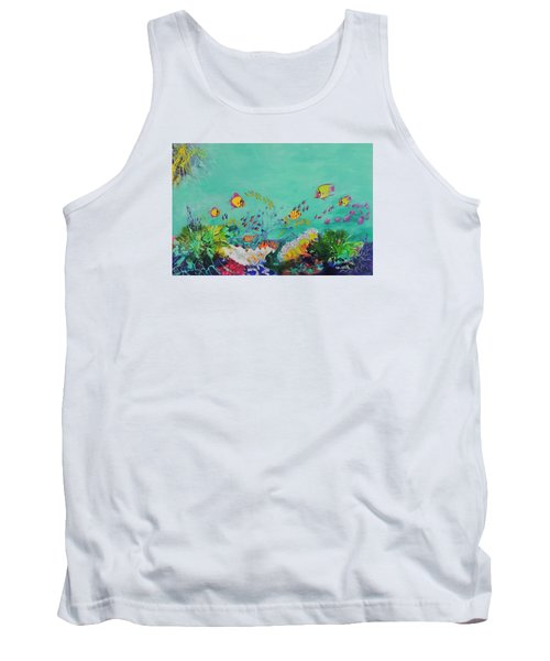 Tank Top featuring the painting Feeding Time by Lyn Olsen