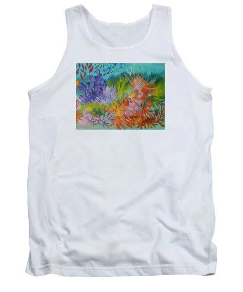 Tank Top featuring the painting Feeding Time On The Reef #3 by Lyn Olsen