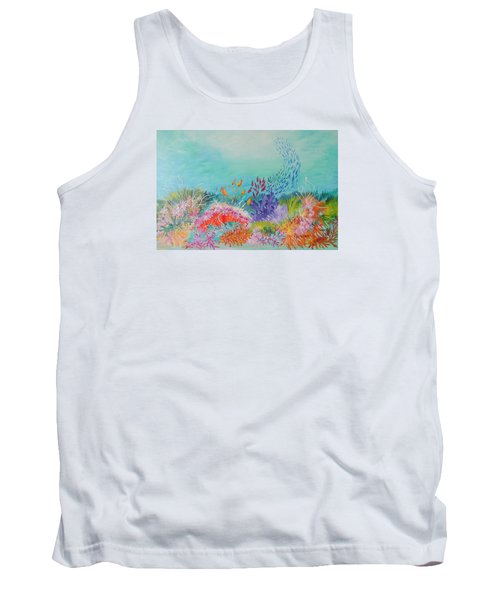 Tank Top featuring the painting Feeding Time On The Reef by Lyn Olsen