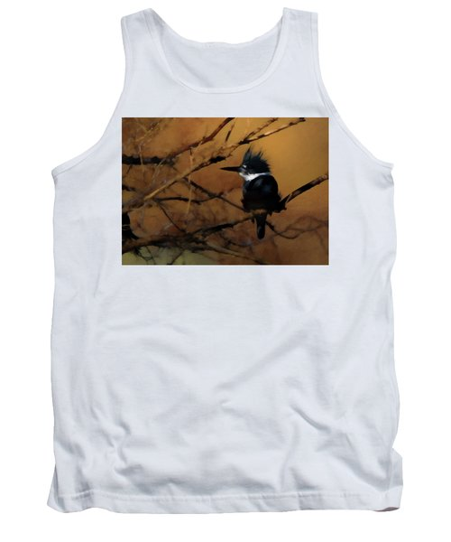 Tank Top featuring the digital art Female Belted Kingfisher 2 by Ernie Echols