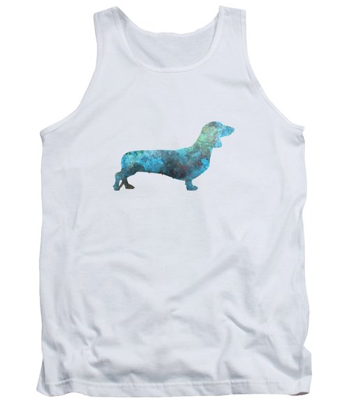 Female Dachsund In Watercolor Tank Top