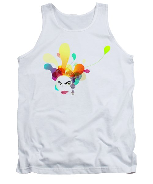 Female Face Abstract Tank Top