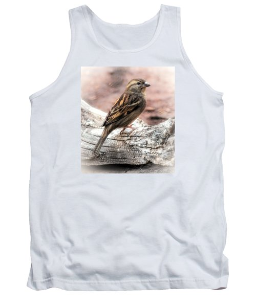 Tank Top featuring the photograph Female Sparrow by Elaine Malott