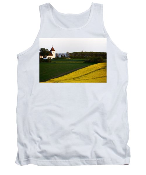 Femoe Fields And Church Tank Top by Eric Nielsen