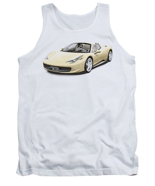 Ferrari 458 Spider - Parallel Hatching Tank Top