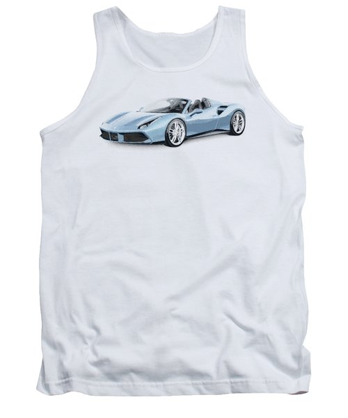 Ferrari 488 Spider - Parallel Hatching Tank Top