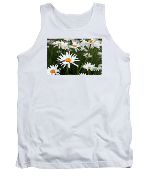 Field Of Daisies Tank Top by Dorothy Cunningham