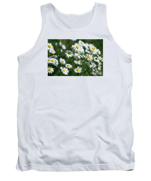 Tank Top featuring the photograph Field Of Daisy's  by Alana Ranney
