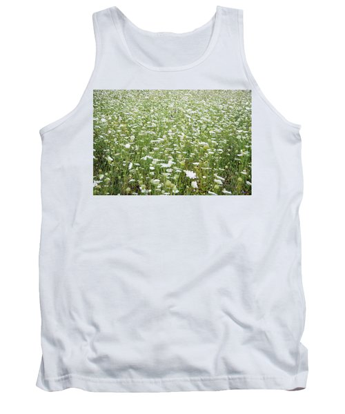 Field Of Queen Annes Lace Tank Top