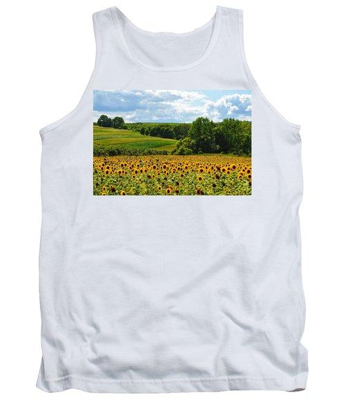 Field Of Sunflowers Tank Top