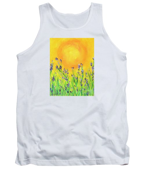 Tank Top featuring the painting Field Sunset by Val Miller