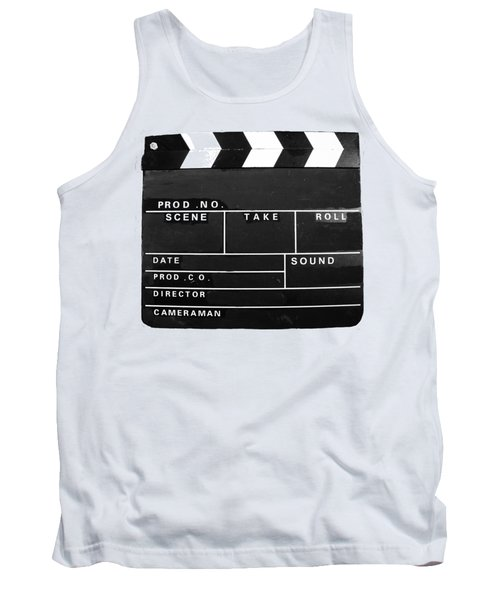 Film Movie Video Production Clapper Board  Tank Top by Tom Conway