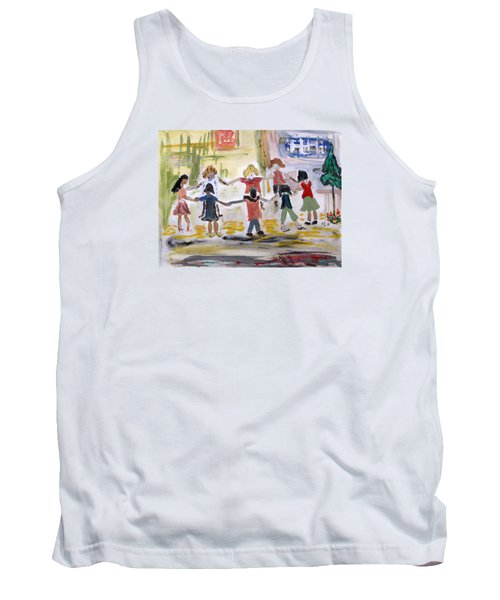 Tank Top featuring the painting Finding Time To Play by Mary Carol Williams