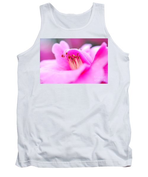 Fine Art- Pink Camellia Tank Top