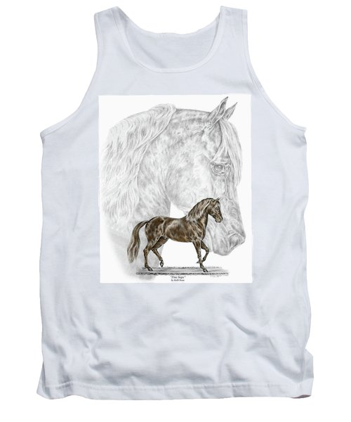 Fine Steps - Paso Fino Horse Print Color Tinted Tank Top