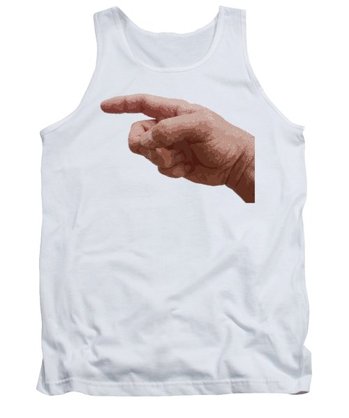 Finger - Parallel Hatching Tank Top