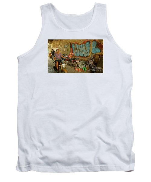 Fink Color Graffiti Tank Top