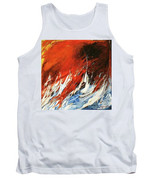 Tank Top featuring the mixed media Fire And Lava by Kathleen Pio