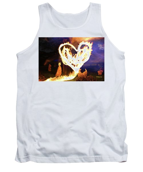 Fire Heart Tank Top by Andrew Nourse