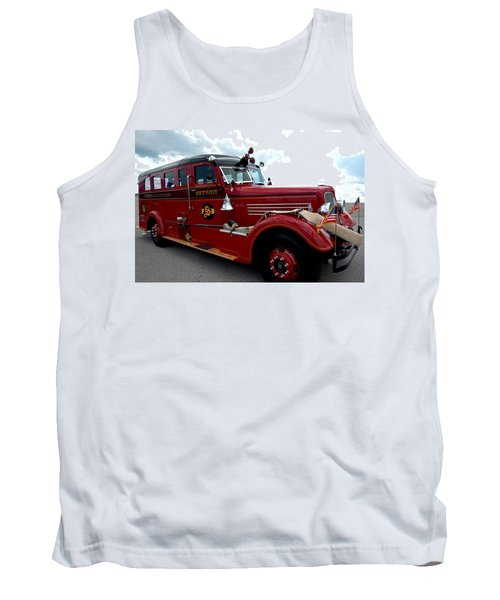 Fire Truck Selfridge Michigan Tank Top