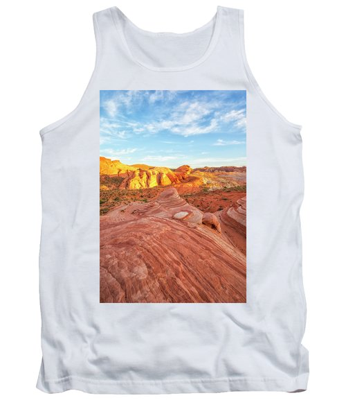 Fire Wave In Vertical Tank Top