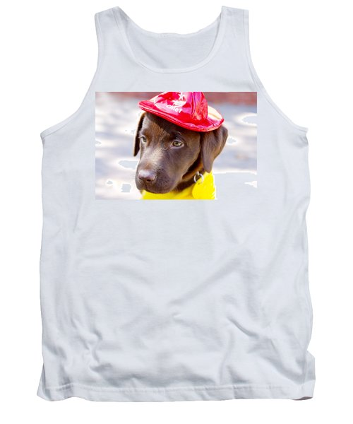 Firefighter Pup Tank Top