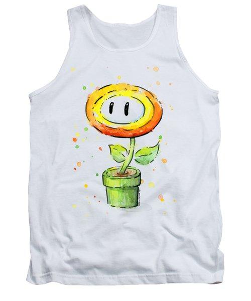 Fireflower Watercolor Tank Top by Olga Shvartsur