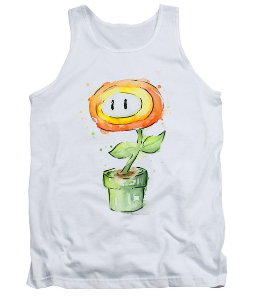 Fireflower Watercolor Painting Tank Top