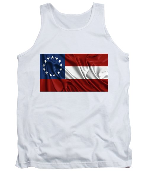 First Flag Of The Confederate States Of America - Stars And Bars 1861-1863 Tank Top