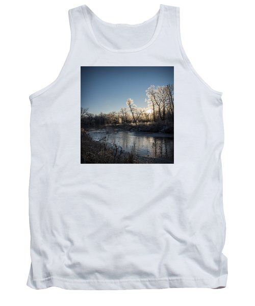 Tank Top featuring the photograph First Frost by Annette Berglund
