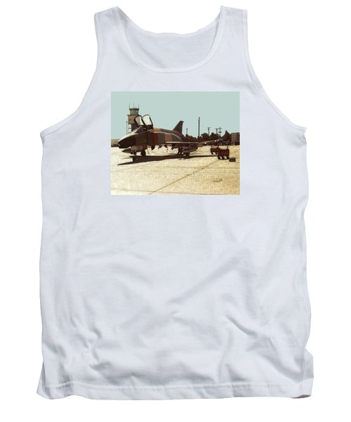 Tank Top featuring the digital art First Jet by Walter Chamberlain