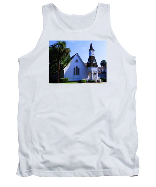 Tank Top featuring the photograph First Presbyterian Church by Laura Ragland