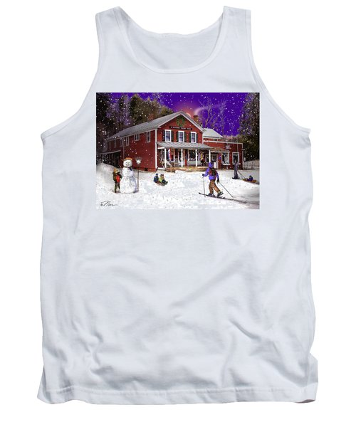 First Snow At The South Woodstock Country Store Tank Top