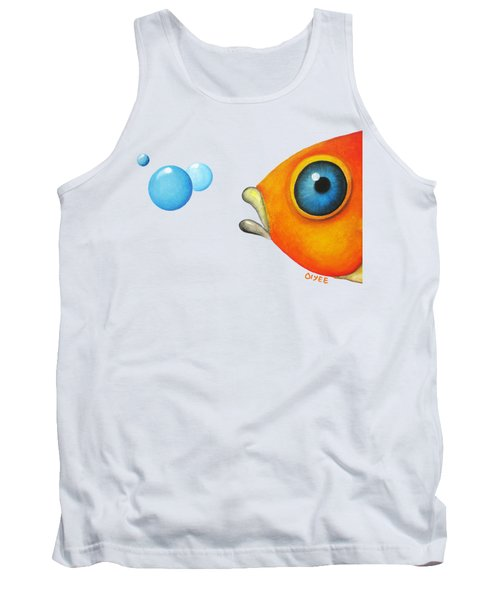 Fish Bubbles Tank Top by Oiyee At Oystudio